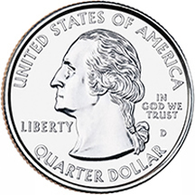 West Virginia State Quarter - Front