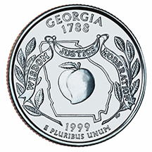 Georgia State Quarter - Back