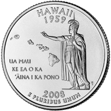 Hawaii State Quarter - Back