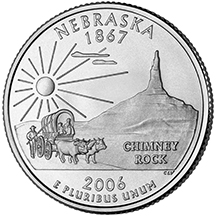 Nebraska State Quarter - Back