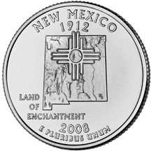 New Mexico State Quarter - Back