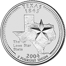 Texas State Quarter - Back